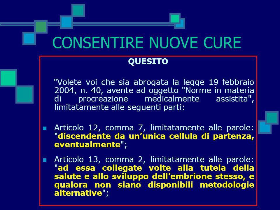 I QUESITI DEI REFERENDUM: I TITOLI UFFICIALI Ministero dellInterno Comunicato Stampa - 2 maggio 2005 1.