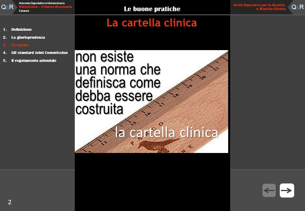 2 Fare clic per modificare lo stile del titolo Q&RQ&R Azienda Ospedaliero-Universitaria Policlinico – Vittorio Emanuele Catania Q&RQ&R 2 Unità Operati