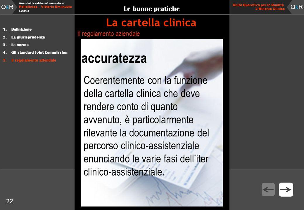 22 Fare clic per modificare lo stile del titolo Q&RQ&R Azienda Ospedaliero-Universitaria Policlinico – Vittorio Emanuele Catania Q&RQ&R 22 Unità Opera