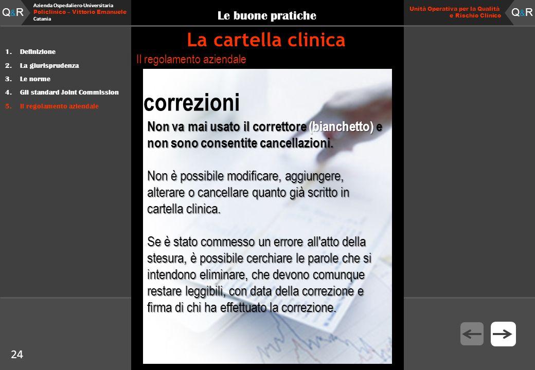 24 Fare clic per modificare lo stile del titolo Q&RQ&R Azienda Ospedaliero-Universitaria Policlinico – Vittorio Emanuele Catania Q&RQ&R 24 Unità Opera