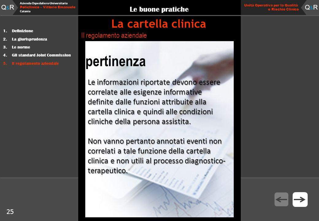 25 Fare clic per modificare lo stile del titolo Q&RQ&R Azienda Ospedaliero-Universitaria Policlinico – Vittorio Emanuele Catania Q&RQ&R 25 Unità Opera