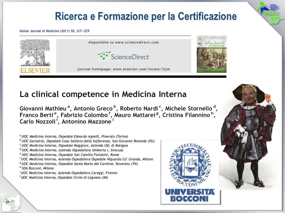 Ricerca e Formazione per la Certificazione