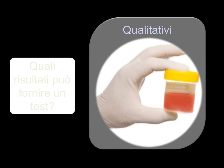 Quali risultati può fornire un test? Qualitativi