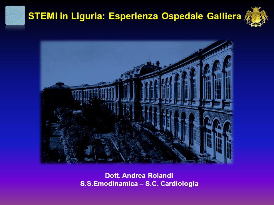 STEMI in Liguria: Esperienza Ospedale Galliera Dott. Andrea Rolandi S.S.Emodinamica – S.C. Cardiologia