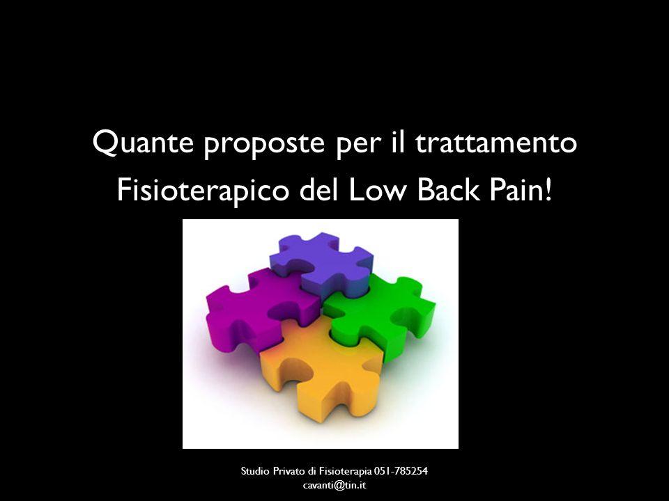 Studio Privato di Fisioterapia 051-785254 cavanti@tin.it