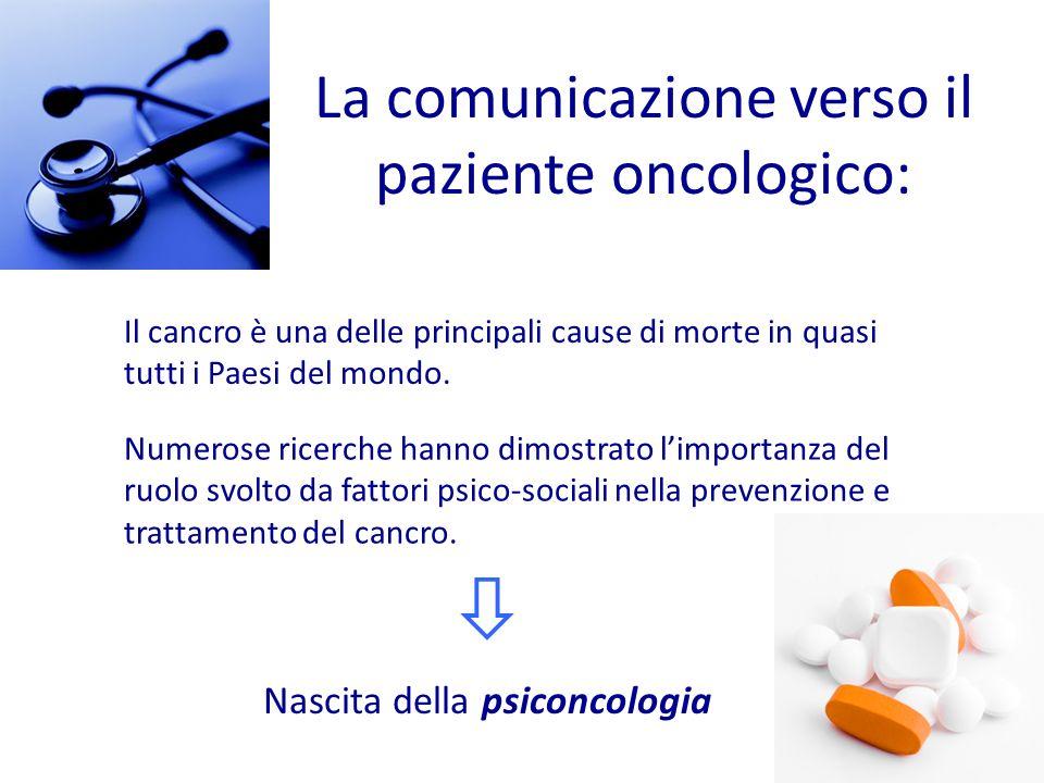 La comunicazione verso il paziente oncologico: Il cancro è una delle principali cause di morte in quasi tutti i Paesi del mondo. Nascita della psiconc