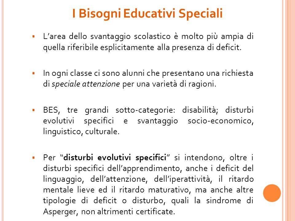 1.Fornisce le indicazioni alle scuole per la presa in carico di alunni con Bisogni Educativi Speciali (BES) Il C.d.c.