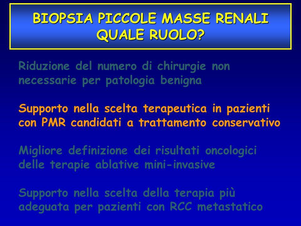 Riduzione del numero di chirurgie non necessarie per patologia benigna Supporto nella scelta terapeutica in pazienti con PMR candidati a trattamento c