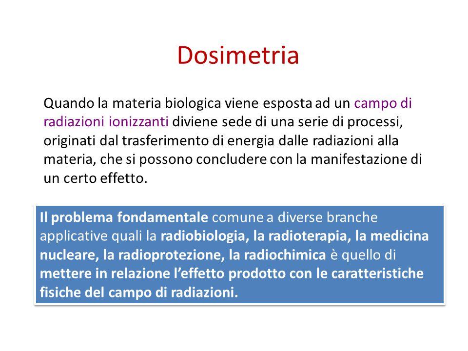 Grandezze dosimetriche Fisiche e radioprotezionistiche
