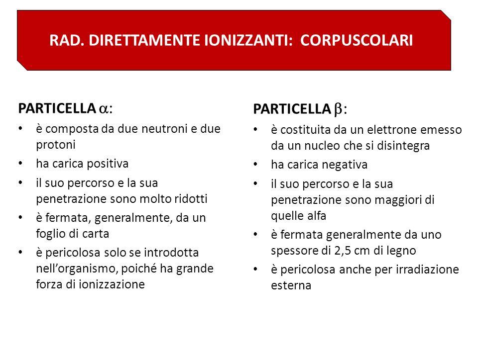 EQUIVALENTE DI DOSE EFFICACE ANNUALE RICEVUTO IN MEDIA IN ITALIA