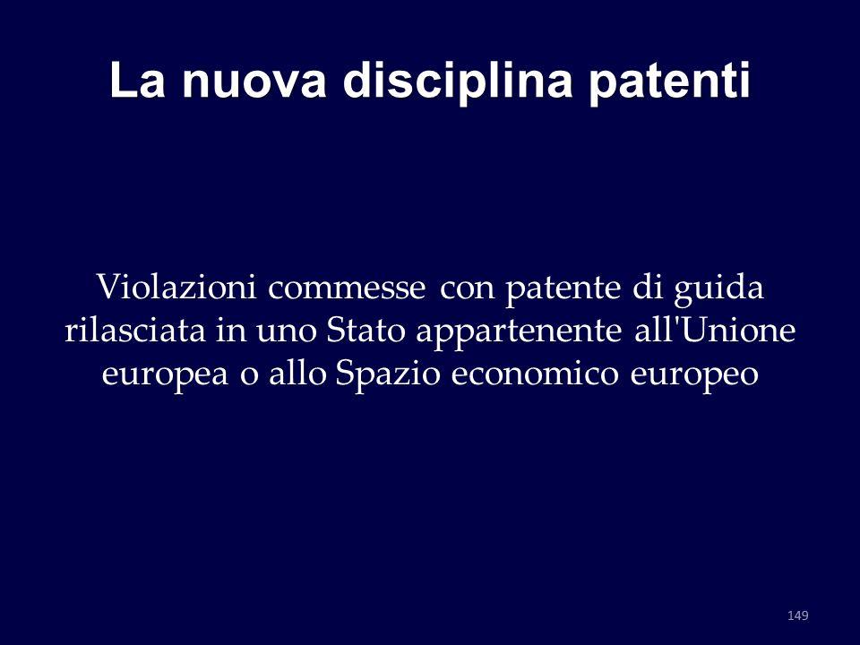 La nuova disciplina patenti Violazioni commesse con patente di guida rilasciata in uno Stato appartenente all'Unione europea o allo Spazio economico e