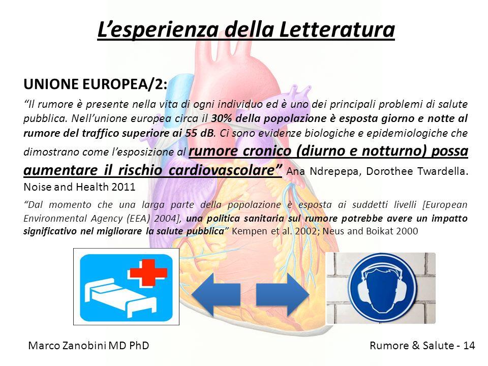 Lesperienza della Letteratura UNIONE EUROPEA/2: Il rumore è presente nella vita di ogni individuo ed è uno dei principali problemi di salute pubblica.