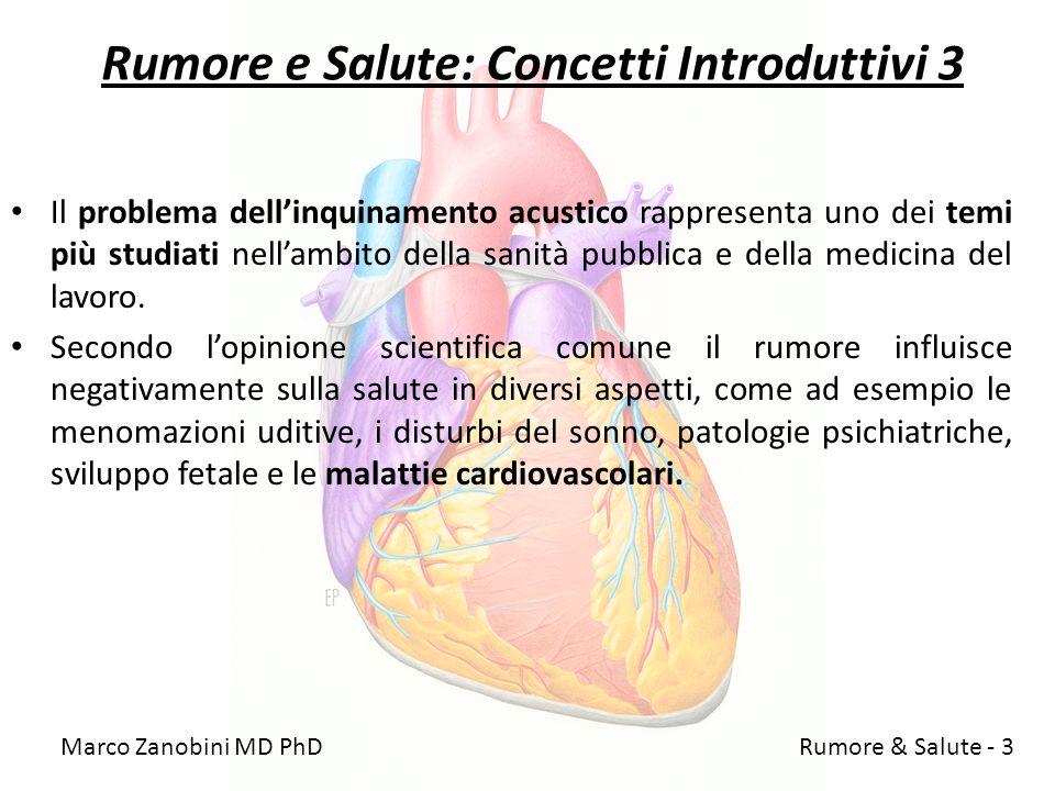 Rumore e Salute: Concetti Introduttivi 3 Il problema dellinquinamento acustico rappresenta uno dei temi più studiati nellambito della sanità pubblica