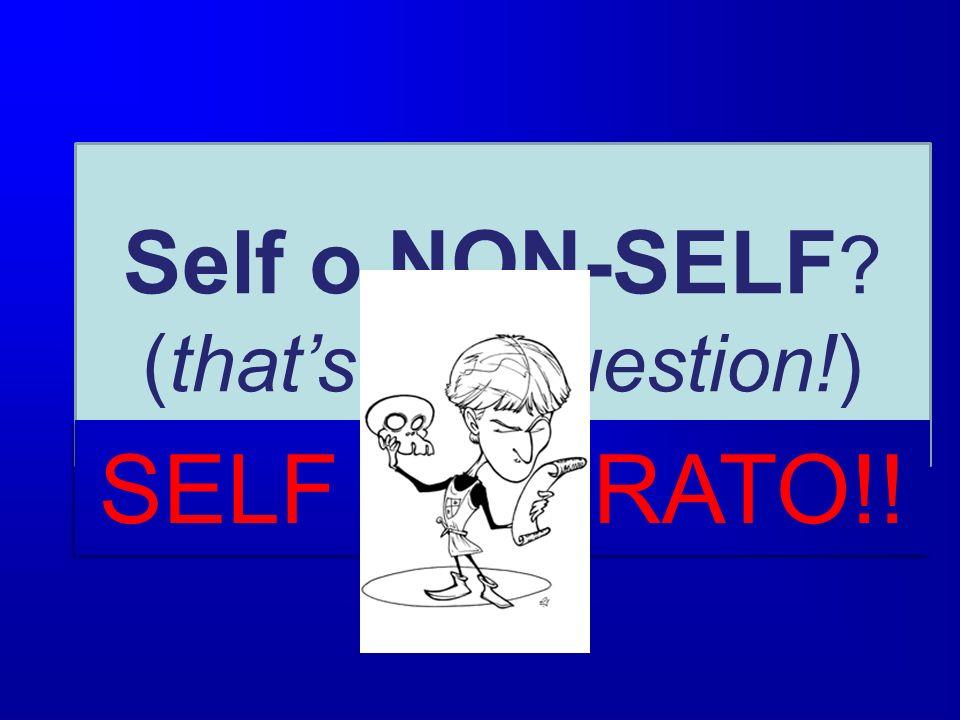 Self o NON-SELF ? (thats the question!) SELF ALTERATO!!
