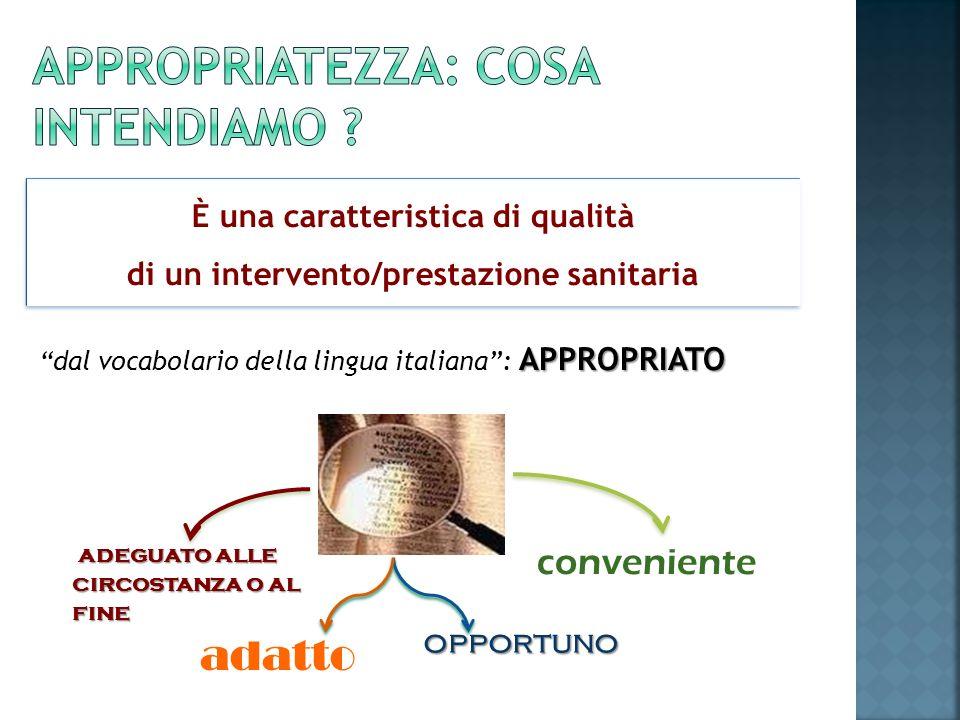 APPROPRIATO dal vocabolario della lingua italiana: APPROPRIATO adatto opportuno opportuno conveniente adeguato alle circostanza o al fine È una caratt