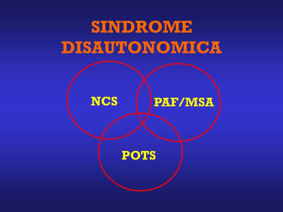 SINDROME DISAUTONOMICA NCS POTS PAF/MSA