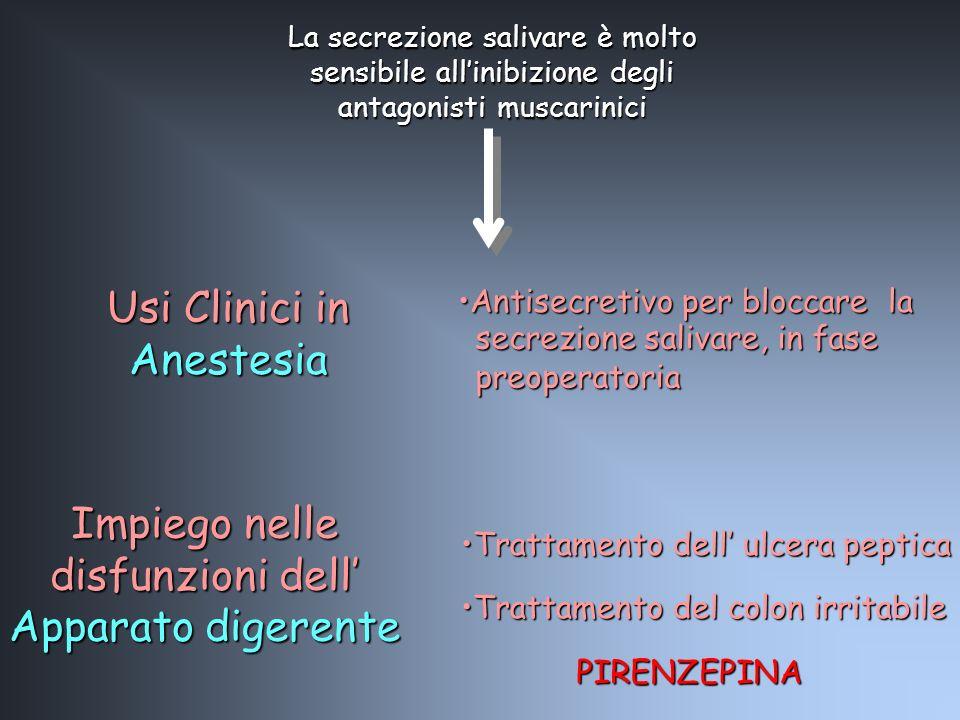 Impiego nelle disfunzioni dell Apparato digerente Trattamento dell ulcera pepticaTrattamento dell ulcera peptica Trattamento del colon irritabileTratt