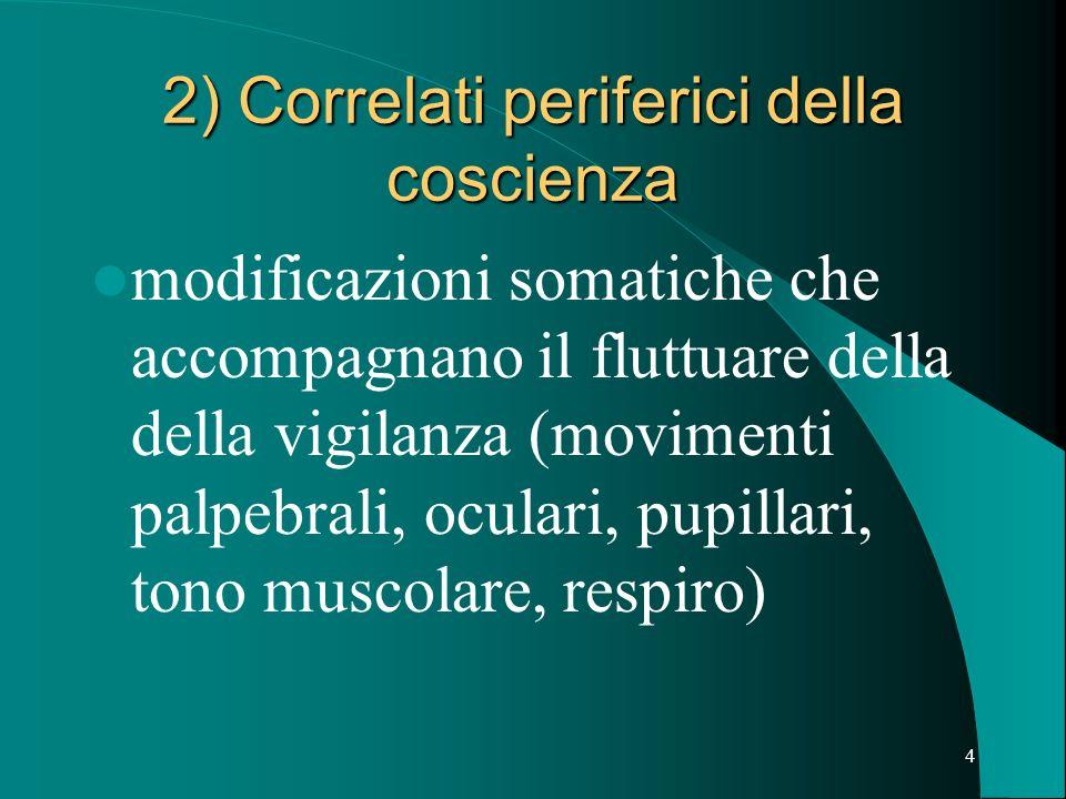 14 Il Coma Lesioni che si istaurano gradualmente: – Insufficienza epatica – Insufficienza renale – Ematoma subdurale a lenta espansione – Ecc.