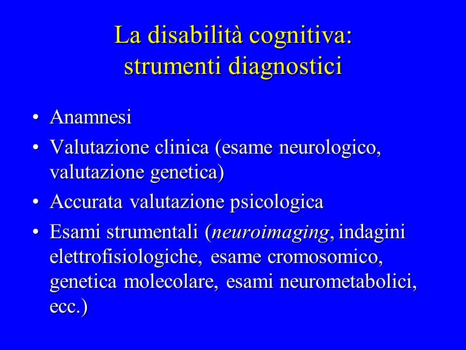 La disabilità cognitiva lieve: il quoziente intellettivo globale (QIT) Norma> 84Norma> 84 Area Limite71-84Area Limite71-84 Disabilità< 71Disabilità< 71