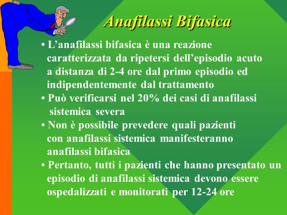 Lanafilassi bifasica è una reazione caratterizzata da ripetersi dellepisodio acuto a distanza di 2-4 ore dal primo episodio ed indipendentemente dal t