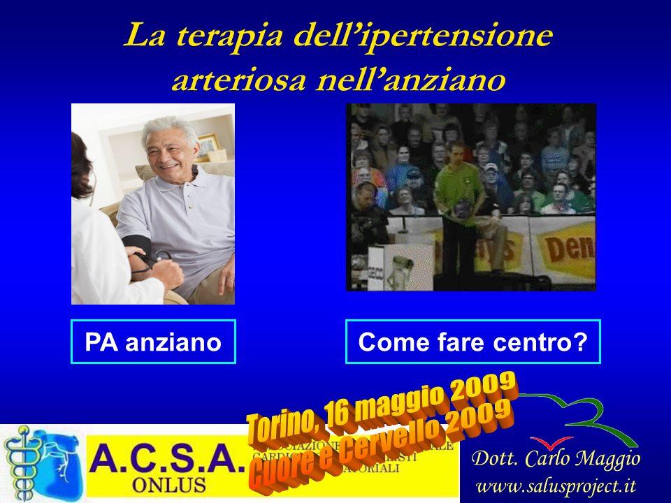La terapia dellipertensione arteriosa nellanziano PA anzianoCome fare centro? Dott. Carlo Maggio www.salusproject.it