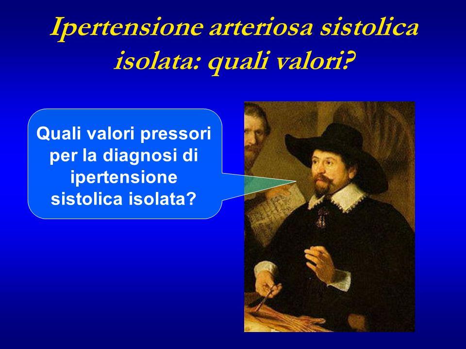 Ipertensione arteriosa sistolica isolata: quali valori? Quali valori pressori per la diagnosi di ipertensione sistolica isolata?