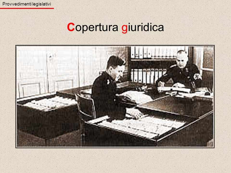 Provvedimenti legislativi g Copertura giuridica