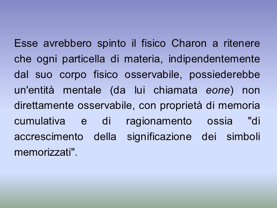 Esse avrebbero spinto il fisico Charon a ritenere che ogni particella di materia, indipendentemente dal suo corpo fisico osservabile, possiederebbe un