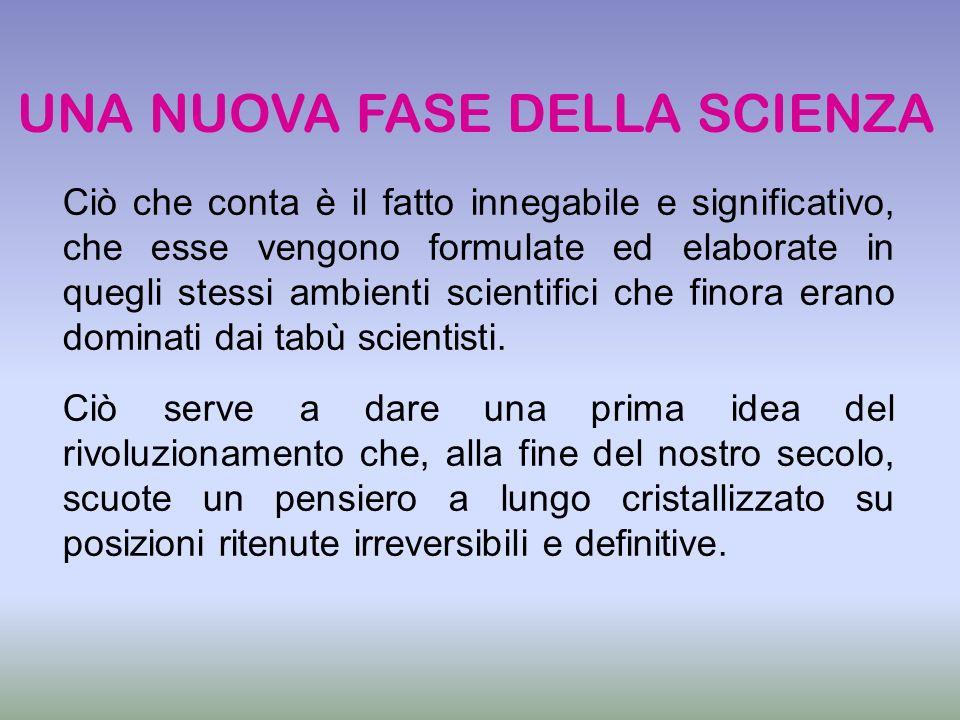 Ciò che conta è il fatto innegabile e significativo, che esse vengono formulate ed elaborate in quegli stessi ambienti scientifici che finora erano do