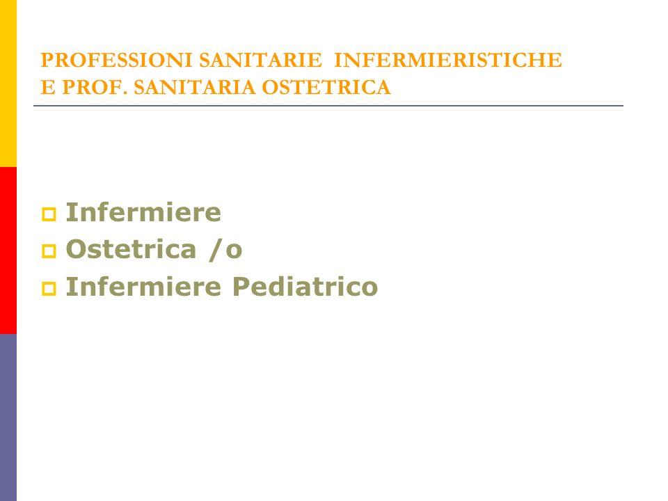 PROFESSIONI SANITARIE INFERMIERISTICHE E PROF.