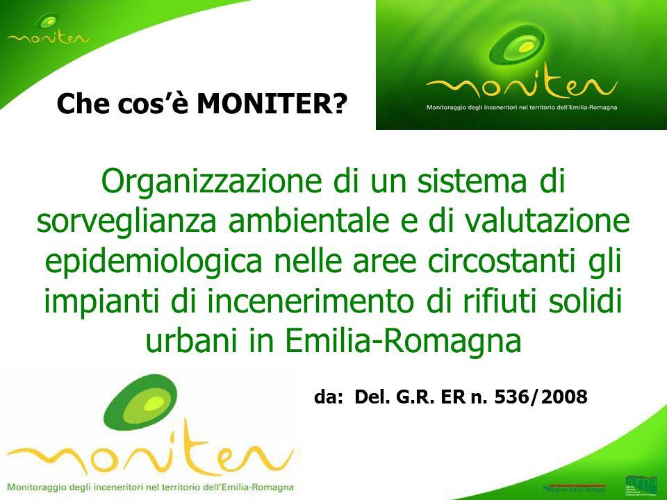 Organizzazione di un sistema di sorveglianza ambientale e di valutazione epidemiologica nelle aree circostanti gli impianti di incenerimento di rifiuti solidi urbani in Emilia-Romagna Che cosè MONITER.