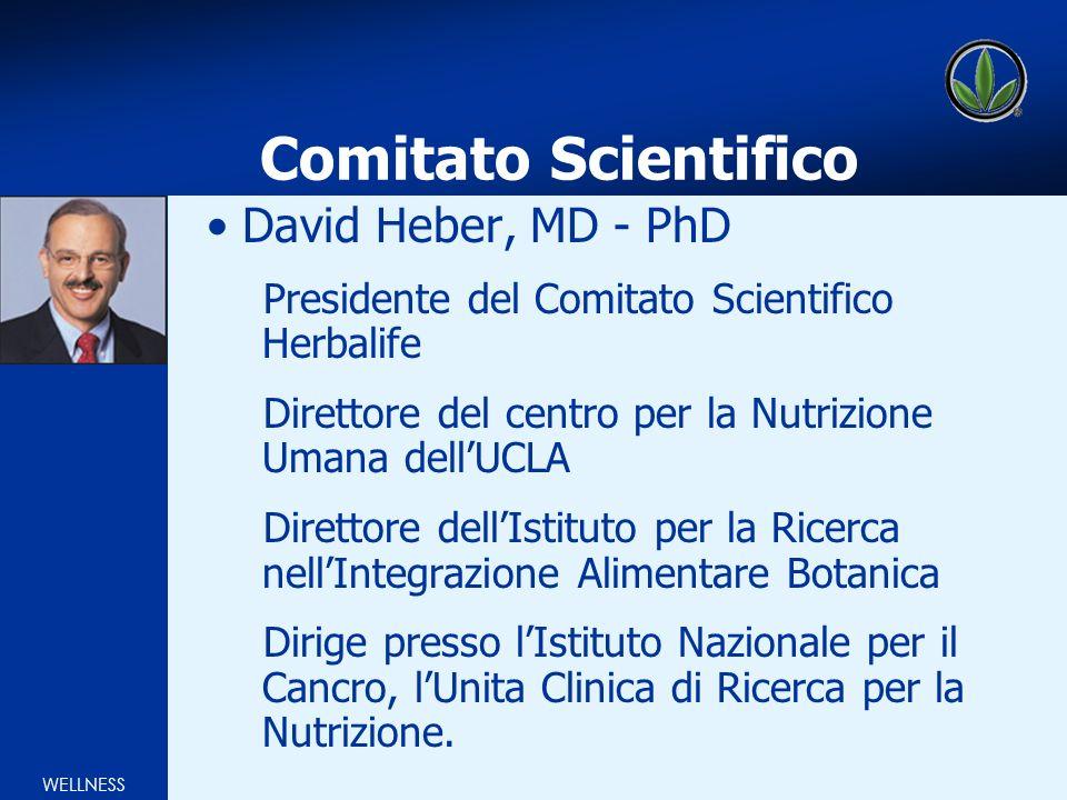 WELLNESS Comitato Scientifico David Heber, MD - PhD Presidente del Comitato Scientifico Herbalife Direttore del centro per la Nutrizione Umana dellUCL