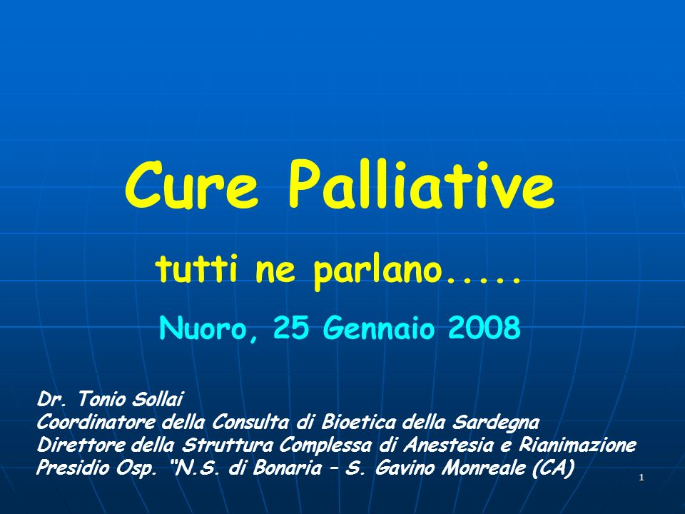 2 Palliativo = inutile?