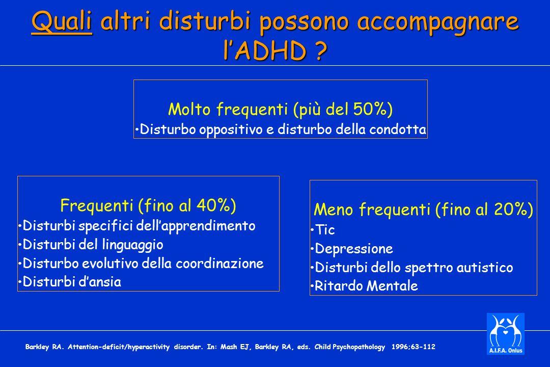 Quali altri disturbi possono accompagnare lADHD .