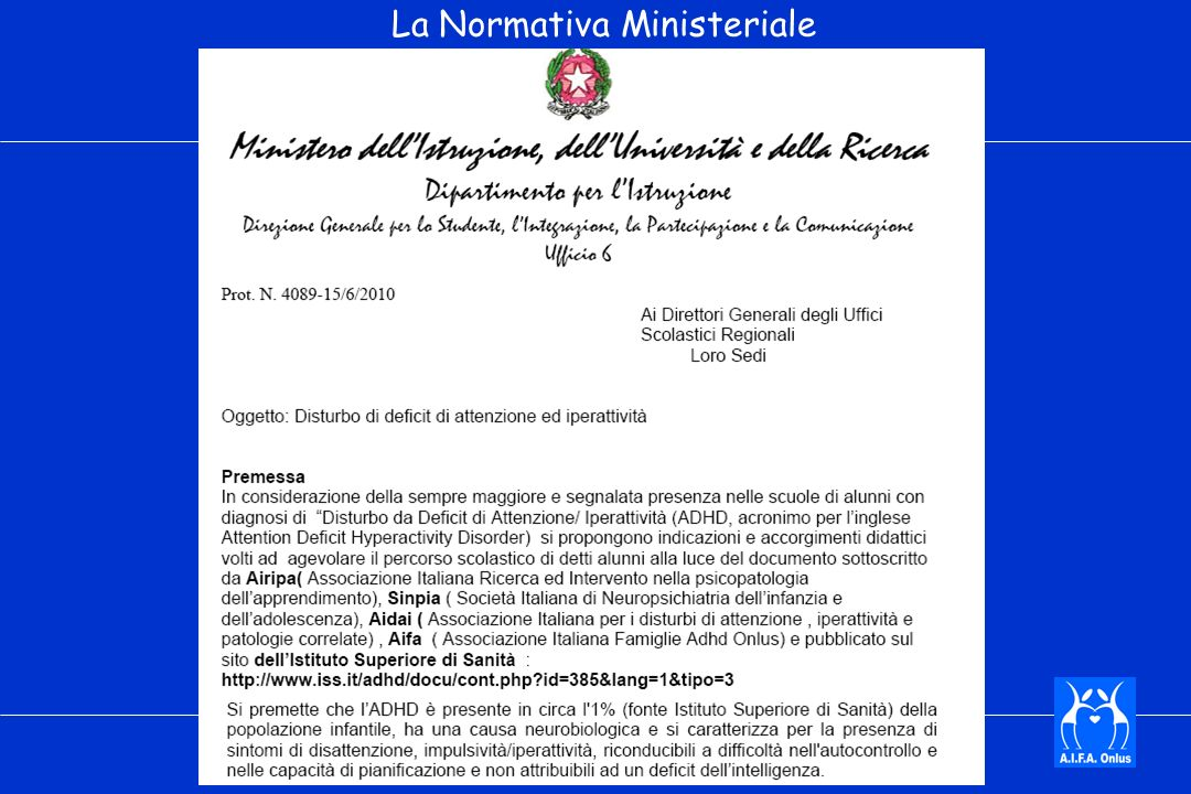 La Normativa Ministeriale