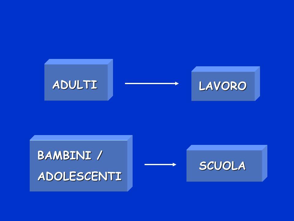 BAMBINI / ADOLESCENTI SCUOLA ADULTI LAVORO