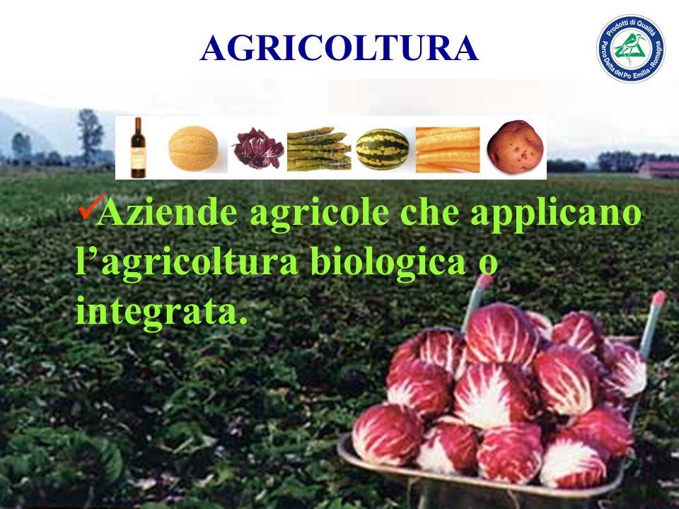 AGRICOLTURA Aziende agricole che applicano lagricoltura biologica o integrata.