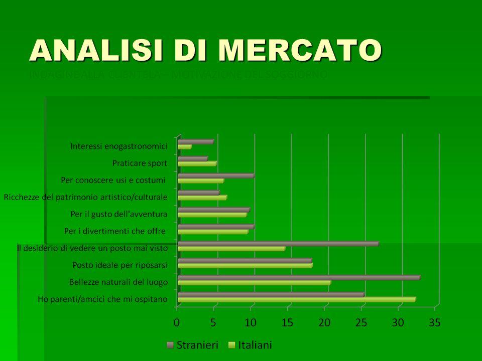 ANALISI DI MERCATO INDAGINE ALLA CLIENTELA – MOTIVAZIONE DEL SOGGIORNO