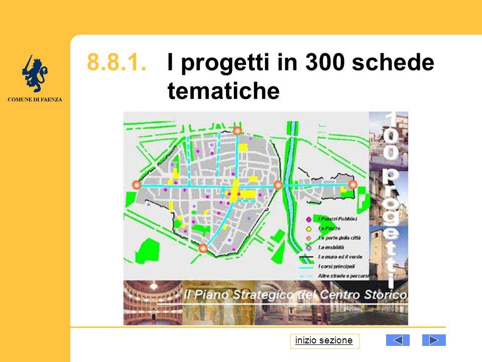 8.8.1. I progetti in 300 schede tematiche inizio sezione