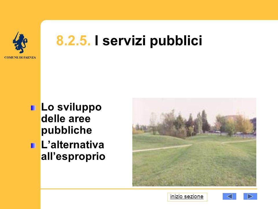 8.2.5. I servizi pubblici Lo sviluppo delle aree pubbliche Lalternativa allesproprio inizio sezione
