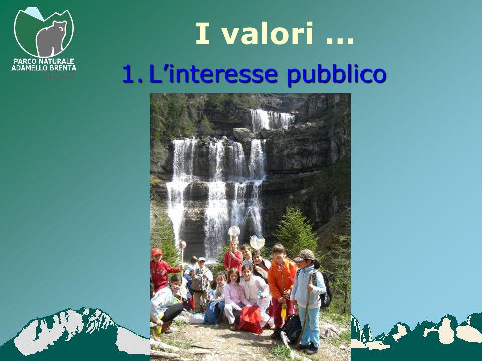 I valori … 1.Linteresse pubblico