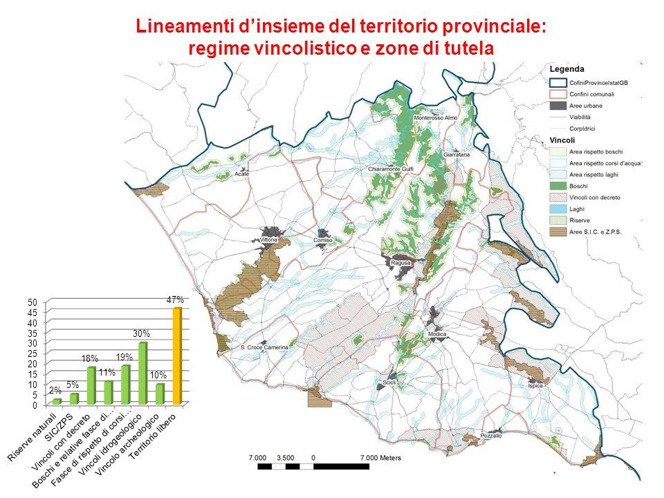 Lineamenti dinsieme del territorio provinciale: vincoli e attività produttive