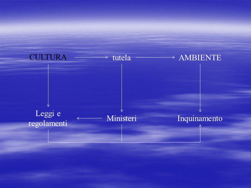 CULTURA tutelaAMBIENTE Leggi e regolamenti InquinamentoMinisteri