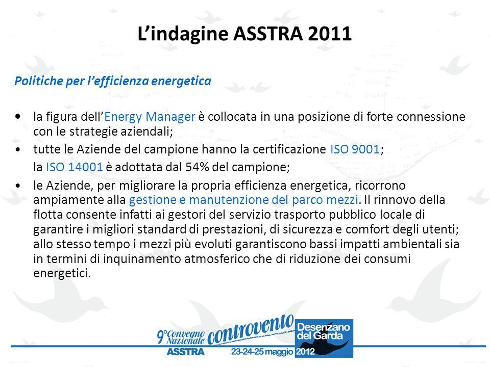 Politiche per lefficienza energetica la figura dellEnergy Manager è collocata in una posizione di forte connessione con le strategie aziendali; tutte