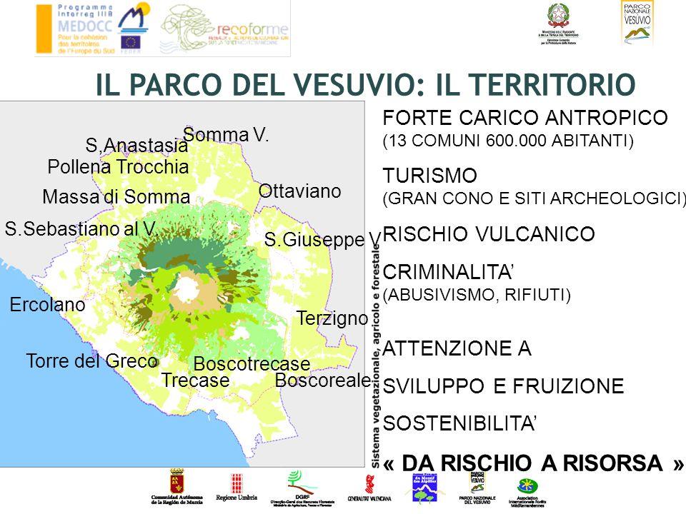 Ottaviano S.Giuseppe V Terzigno Boscoreale Boscotrecase Trecase Torre del Greco Ercolano S.Sebastiano al V. Massa di Somma Somma V. S,Anastasia Pollen