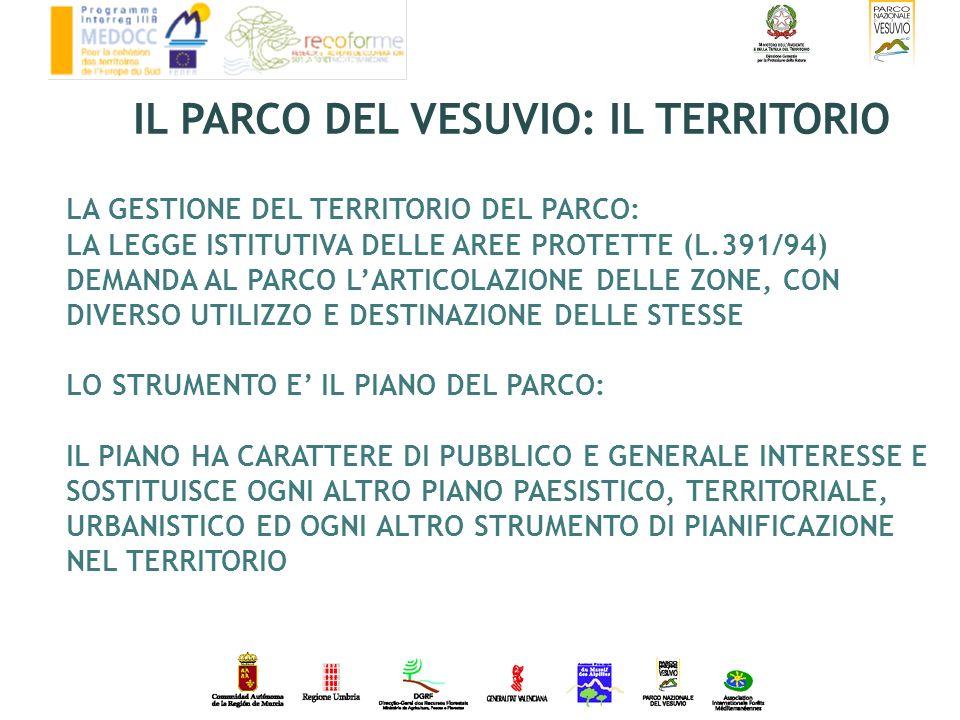 LA GESTIONE DEL TERRITORIO DEL PARCO: LA LEGGE ISTITUTIVA DELLE AREE PROTETTE (L.391/94) DEMANDA AL PARCO LARTICOLAZIONE DELLE ZONE, CON DIVERSO UTILI