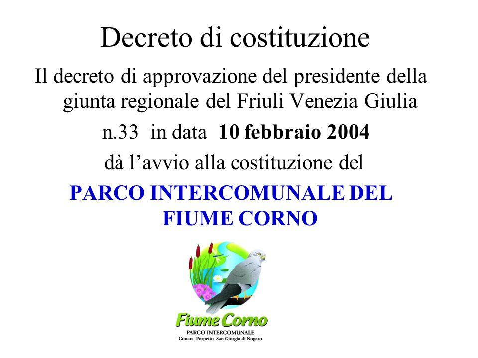I consigli comunali adottano il progetto di PARCO INTERCOMUNALE: 16 dicembre 2002: San Giorgio di Nogaro 17 dicembre 2002: Gonars 20 dicembre 2002: Po