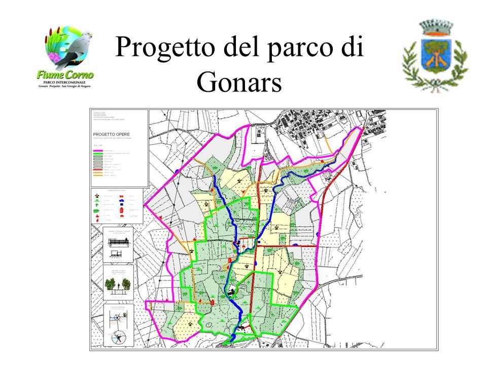 Progetto di parco Interventi necessari alla realizzazione (10 anni) a cura dei singoli comuni. Interventi necessari per la gestione (3 anni) in modali
