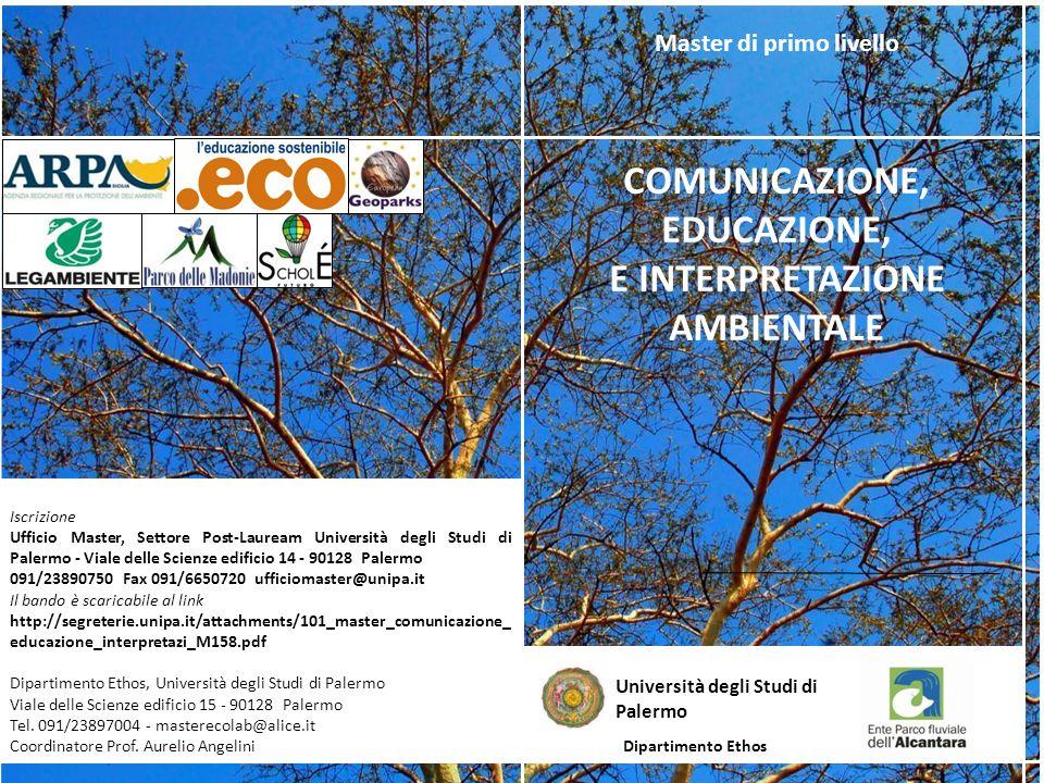 Iscrizione Ufficio Master, Settore Post-Lauream Università degli Studi di Palermo - Viale delle Scienze edificio 14 - 90128 Palermo 091/23890750 Fax 0