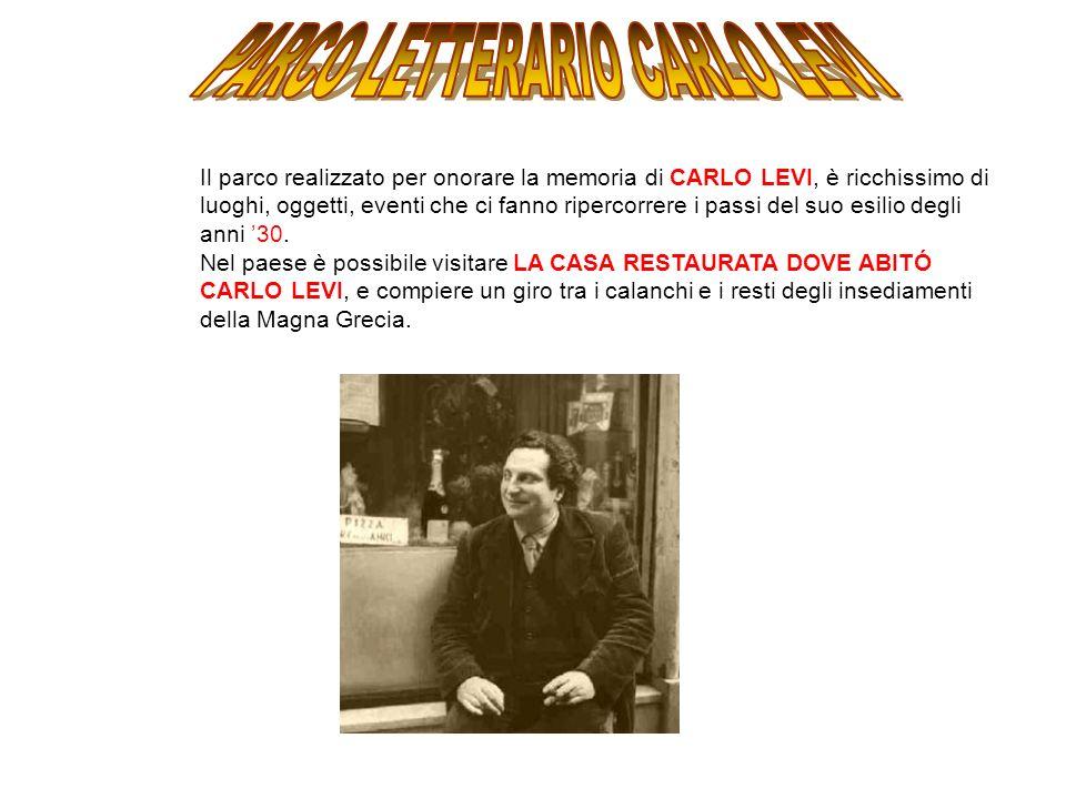 Il parco realizzato per onorare la memoria di CARLO LEVI, è ricchissimo di luoghi, oggetti, eventi che ci fanno ripercorrere i passi del suo esilio degli anni 30.